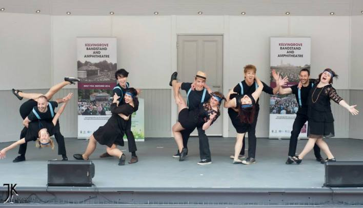 Swing Dance Performance at Kelvingrove Bandstand